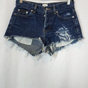 Calvin Klein | Distressed Cut Off Jean Shorts 3